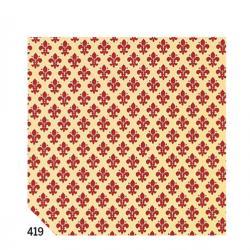 Rotolo Cartarivesto RexTaco - 49x300 cm - adesivo - lavabile - giglio rosso - Rex Sadoch