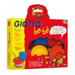 Colori a dita - 100gr - rosso, blu, giallo - Giotto bebe - Conf. 3 barattoli