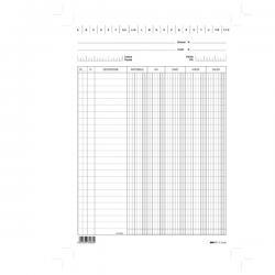 Schede - dare/avere/saldo/iva - 24x17 cm (verticale) - bianco - Edipro - conf. 100 pezzi