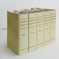 Faldone - legacci incollati - juta - 35x25 cm - dorso 4 cm - paglia - Brefiocart