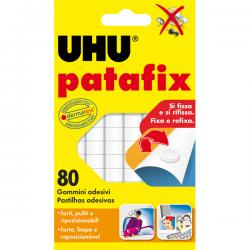 Supporti in gomma adesiva UHU® Patafix - bianco - UHU® - conf. 80 pezzi