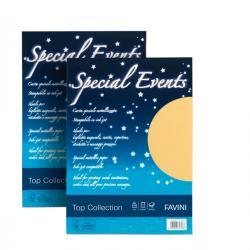 Carta metallizzata Special Events - A4 - 250 gr - crema - Favini - conf. 10 fogli