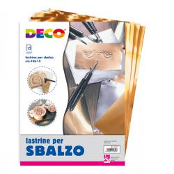 Lastre alluminio/rame - 20 x 30 cm - Deco - conf.12 pezzi