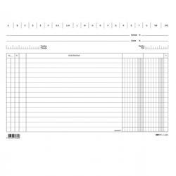 Schede - 2 colonne - 17x24 cm (orizzontale) - bianco - Edipro - conf. 100 pezzi