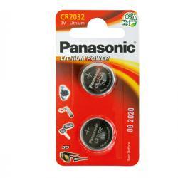 Blister 2 micropile CR2032 - 3V - a pastiglia - litio - Panasonic