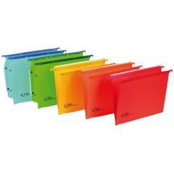 Cartella sospesa Joker - cassetto - interasse 33 cm - fondo V - 31,2x25 cm - arancio - Bertesi