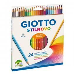Astuccio 24 pastelli colorati Stilnovo - Giotto
