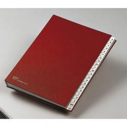 Classificatore alfabetico A/Z - 640E - 24x34 cm - rosso - Fraschini