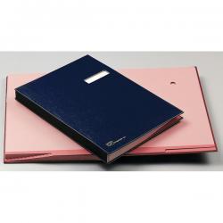 Libro firma - 18 intercalari - 24x34 cm - blu - Fraschini