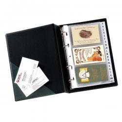 Portabiglietti Minivisita MC 17 - 15x20,5 cm - 120 biglietti - nero - Sei Rota