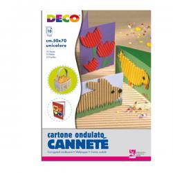 Cartoncino ondulato Cannetè 2206 - 50x70cm - bianco - DECO - Conf.10 pezzi