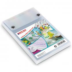 Marcatore 4600 - 10 colori assortiti - punta conica 1,0mm - per tessuto - Edding - astuccio da 10 marcatori