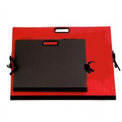 Cartella portadisegni - con maniglia - 70x50 cm - nero - Brefiocart