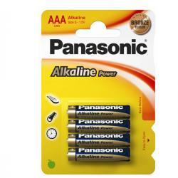 Blister 4 pile Ministilo AAA - 1,5V - alcalina - Panasonic