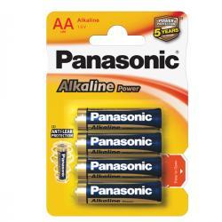 Blister 4 pile Stilo AA - 1,5V - alcalina - Panasonic