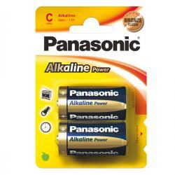 Blister 2 pile Mezzatorcia C - 1,5V - alcalina - Panasonic