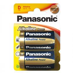 Blister 2 pile Torcia D - 1,5V - alcalina - Panasonic