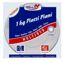 Piatti piani Deka - PP - ø 220 mm - DOpla - confezione da 1 kg
