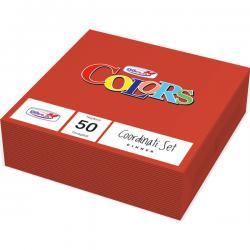 Tovaglioli di carta - 33x33 cm - 2 veli - rosso - DOpla - conf. 50 pezzi