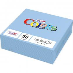 Tovaglioli di carta - 33x33 cm - 2 veli - azzurro - DOpla - conf. 50 pezzi