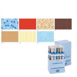 Rotoli Cartarivesto Rex Taco - lavabile - 49x300 cm - colori assortiti - Rex Sadoch - conf. 20 pezzi