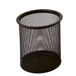 Bicchieri portapenne - rete metallica - 8,5x10 cm - nero - Lebez