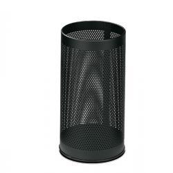 Portaombrelli tondo - metallo forato - altezza 48cm - nero - Stilcasa