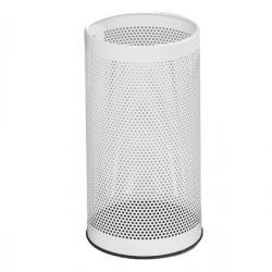 Portaombrelli tondo - metallo forato - altezza 48cm - bianco - Stilcasa