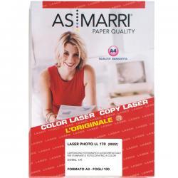 Carta laser - A3 - 170gr - effetto lucido fronte/retro - As Marri - conf. 100fg