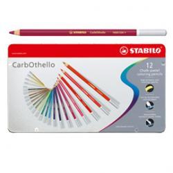 Matite carboncino Carbothello - 12 colori assortiti - Stabilo