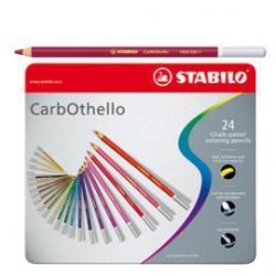 Matite carboncino Carbothello - 24 colori assortiti - Stabilo