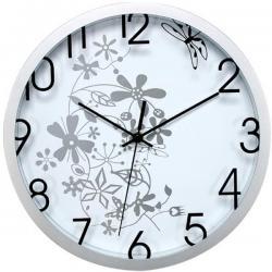 Orologio da parete Flowers - diametro 30,5cm - bianco - Methodo