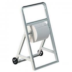 Dispenser a cavalletto con ruote per bobine asciugatutto - Mar Plast
