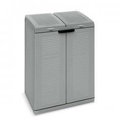 Contenitore EcoCab 2 per raccolta differenziata - 2 portasacco da 110 lt ciascuno - Terry
