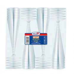 Bicchieri Flutes Diamant - monouso - DOpla - conf. 20 pezzi