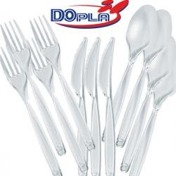 Cucchiai Diamant - monouso - trasparente - polistirene - Dopla - conf. 50 pezzi