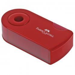Temperamatite Sleeve - 2 fori - con serbatoio - 70x34x20mm - rosso e blu assortiti - Faber Castell