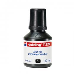 Marcatore - nero - 30ml - inchiostro permanente - Edding