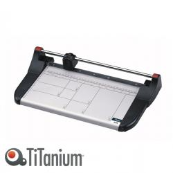 Taglierina a lama rotante 3016 - A4 - 330 mm - taglio lineare - capacità taglio 10 fg - bianco/nero - Titanium