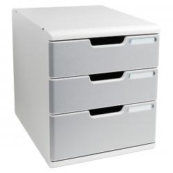 Cassettiera Modulo A4 - 35x28,8x32 cm - 3 cassetti - grigio/granito - Multiform