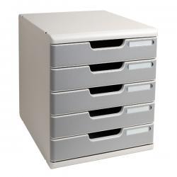 Cassettiera Modulo A4 - 5 cassetti - grigio/granito - Multiform