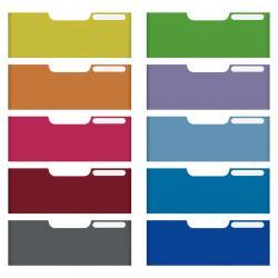 Set 10 frontalini colorati Modulo A4 - per cassetti 5,4cm - Multiform