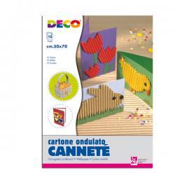 Cartoncino ondulato Cannetè 2205 - 50x70cm - colori assortiti - CWR - Conf.10 fogli