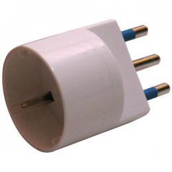 Adattatore semplice con spina 2P+T 16A - presa Schuko 16A - MKC