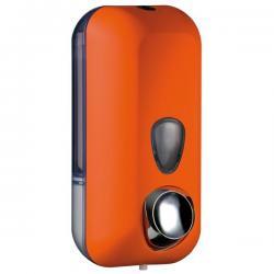 Dispenser Soft Touch per sapone liquido - arancio - capacità 0.55 lt - Mar Plast
