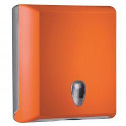 Dispenser asciugamani piegati Soft Touch - arancio - Mar Plast