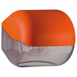 Dispenser Soft Touch di carta igienica - arancio - Mar Plast