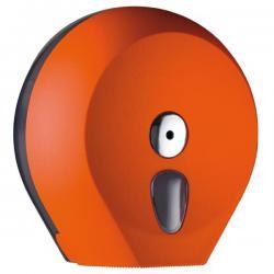 Dispenser Soft Touch di carta igienica in rotolo Mini Jumbo - arancio - Mar Plast