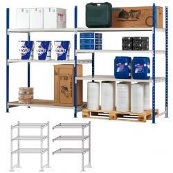 Kit iniziale scaffale - 5 ripiani - in metallo - 100x35cm - H200cm - Paperflow