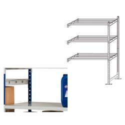 Kit aggiunta scaffale - 5 ripiani - in metallo - 100x35cm - H200cm - Paperflow